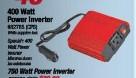 CARQUEST CPS 82765; 400 WATT POWER INVERTER-NEW