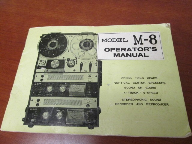 STEREOPHONIC SOUND RECORDER/ REPRODUCER MODEL M8 OPERATORS MANUAL W/ WARRANTY CA