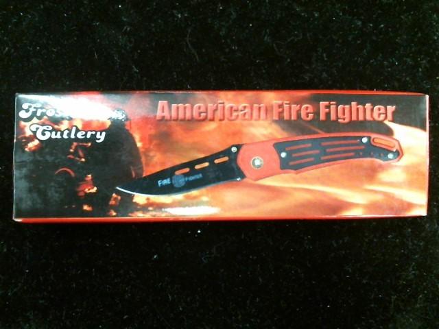 FROST CUTLERY Pocket Knife AMERICAN FIREFIGHTER