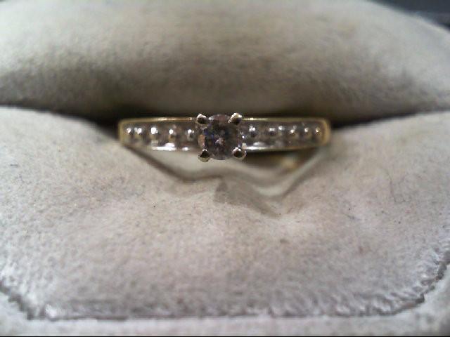 Lady's Diamond Engagement Ring 11 Diamonds .17 Carat T.W. 10K Yellow Gold 1.5g