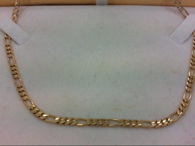 """18"""" Gold Figaro Chain 14K Yellow Gold 11.3g"""