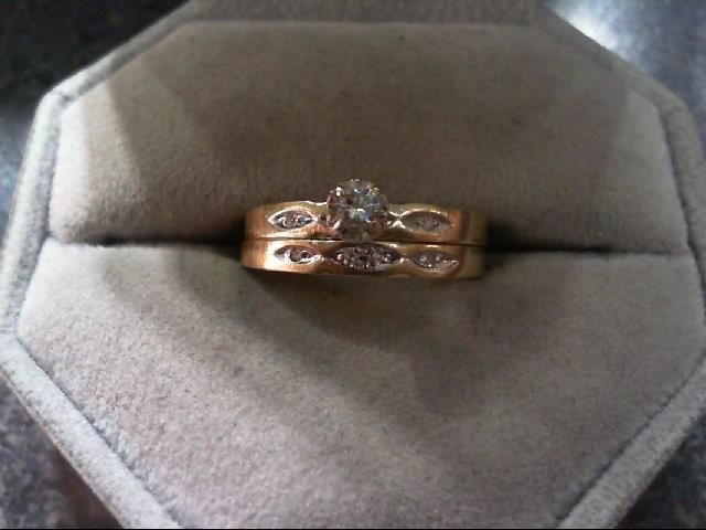 Lady's Diamond Wedding Set .10 CT. 14K Yellow Gold 2.6g