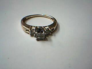 Lady's Diamond Cluster Ring 6 Diamonds .60 Carat T.W. 14K White Gold 2.8g