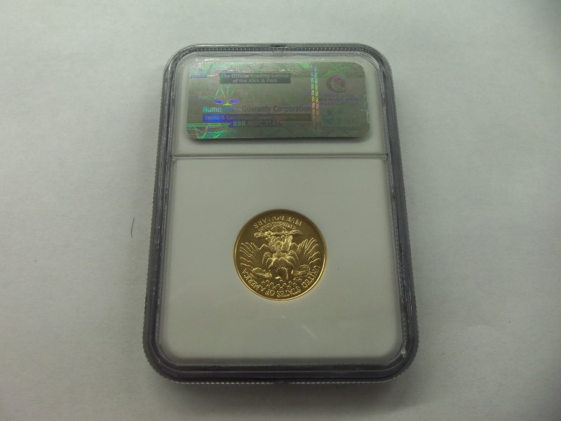 1999 W WASHINGTON $5 GOLD MS70 NGC