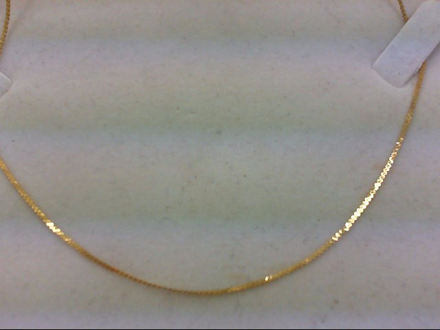 "20"" Gold Serpentine Chain 14K Yellow Gold 1.7g"