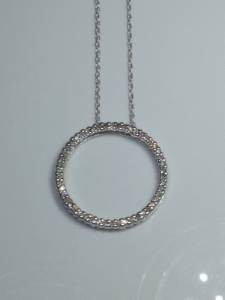 Diamond Necklace 48 Diamonds .48 Carat T.W. 10K White Gold 2.1g