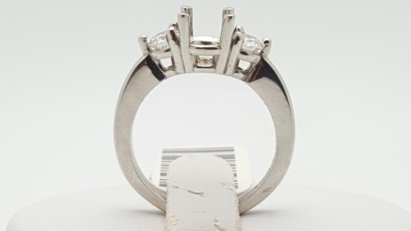 Lady's Platinum-Diamond Wedding Band 2 Diamonds .50 Carat T.W. 950 Platinum 6.5g