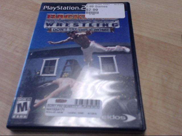 BACKYARD WRESTLING SONY PS2 GAME PLAYSTATION 2 GAME