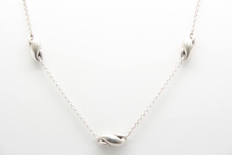 "16"" TIFFANY & CO SILVER NECKLACE ELSA PERETTI DESIGN"