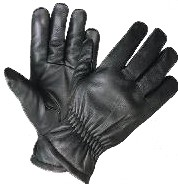 UNIK 1414 MAN'S BLACK LINED ULTRA GLOVE - LARGE