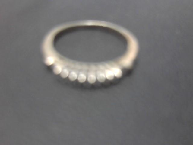 Lady's Diamond Wedding Band 11 Diamonds .29 Carat T.W. 14K White Gold 2.8g