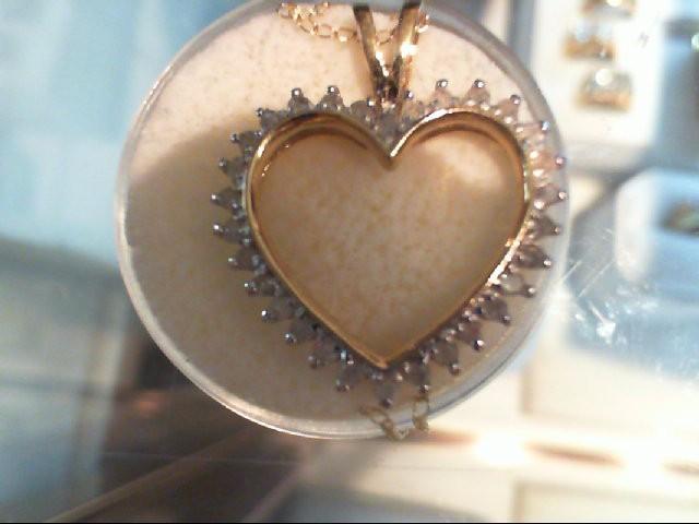 "20"" Diamond Necklace 30 Diamonds .90 Carat T.W. 10K Yellow Gold 2.4g"