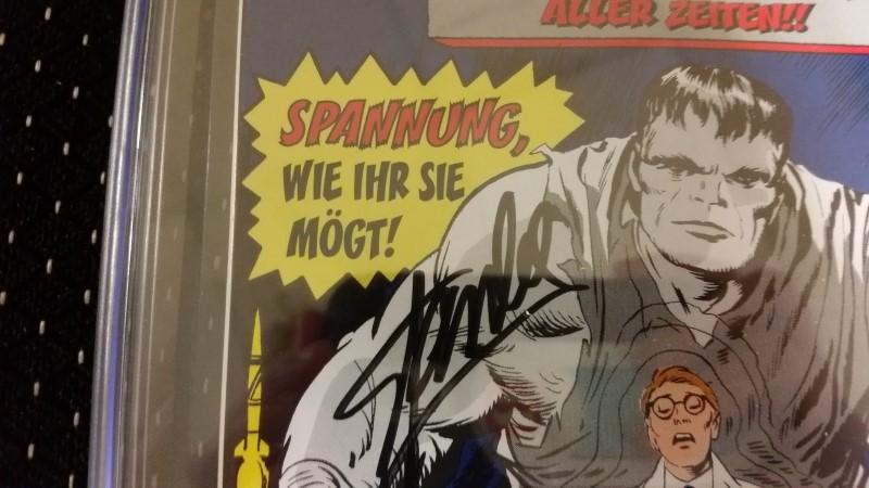 The Incredible Hulk #1 1999 German Reprint Gold Foil CGC SS 9.4 Stan Lee Auto