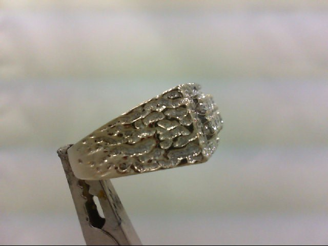 Gent's Diamond Fashion Ring 8 Diamonds 1.00tdw . 14K White Gold 10.58g
