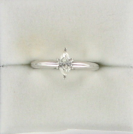 Lady's Diamond Solitaire Ring .25 CT. 14K White Gold 1.7dwt
