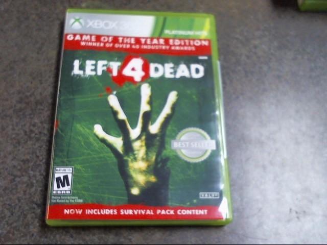 MICROSOFT Microsoft XBOX 360 Game LEFT 4 DEAD