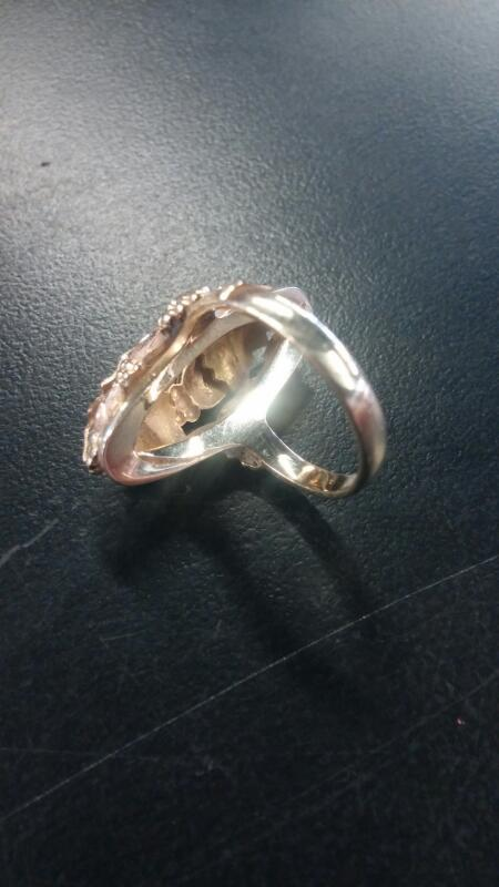 LDS 10KT Lady's Gold Ring NO STONES 10K Yellow Gold 4.5dwt Size:6.5