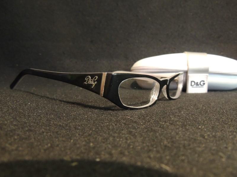 DOLCE & GABBANA D&G EYEGLASSES 1154 82 51-17 135 BLACK WHITE FULL RIM FRAME