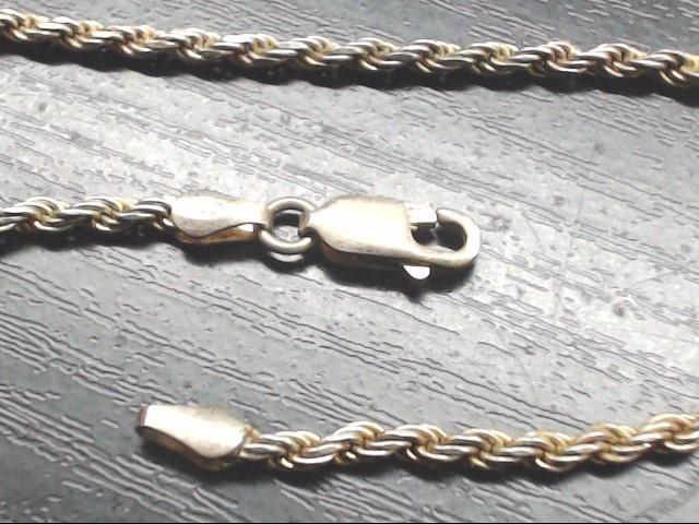Silver Rope Bracelet 925 Silver 4.4g