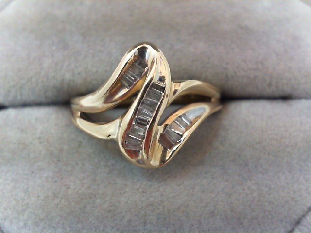 Lady's Diamond Fashion Ring 17 Diamonds .24 Carat T.W. 10K Yellow Gold 3.2g