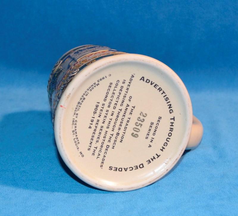 ANHEUSER-BUSCH ADVERTISING THROUGH THE DECADES BEER STEIN #23509 2ND IN SERIES