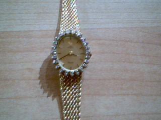 JULES JURGENSEN Lady's Wristwatch 16-DIAMONDS 7546