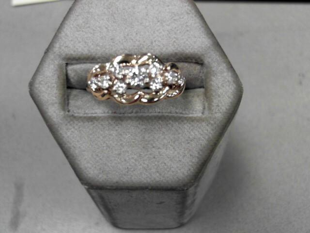 Gent's Diamond Fashion Ring 9 Diamonds .51 Carat T.W. 14K Yellow Gold 4g