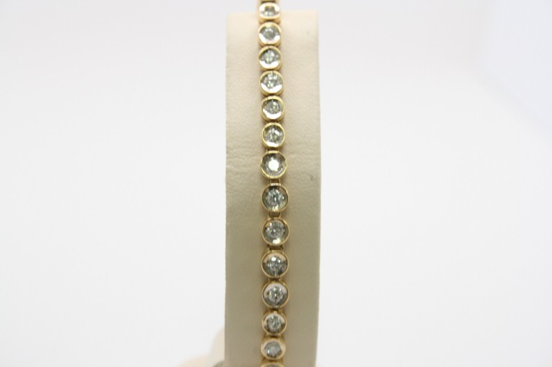 TENNIS DIAMOND BRACELET 14K YELLOW GOLD