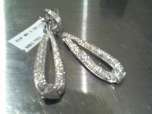Gold Earrings 14K White Gold 7.97g