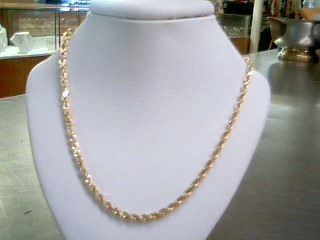 """22"""" Gold Rope Chain 14K Yellow Gold 14.3g"""