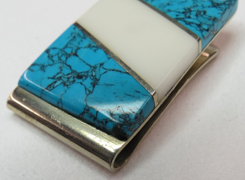 Turquoise Silver-Stone Misc. 925 Silver 14dwt