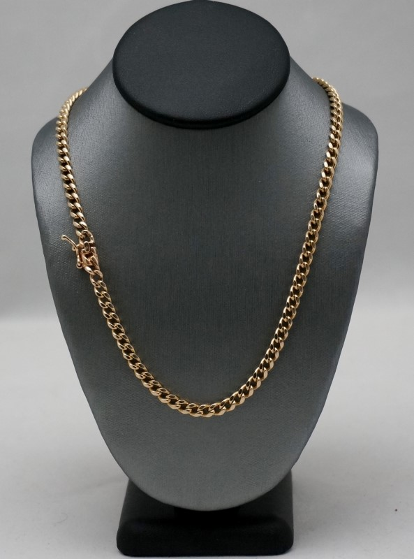 """22"""" Gold Curb Chain 14K Yellow Gold 18.1dwt"""