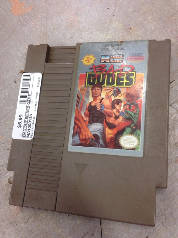 NINTENDO NES GAME BAD DUDES