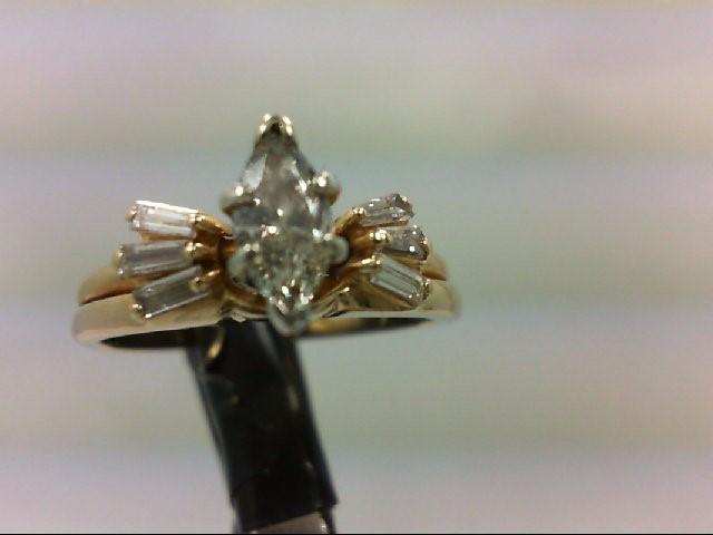 Lady's Diamond Wedding Set 7 Diamonds .61 Carat T.W. 14K Yellow Gold 3.36g