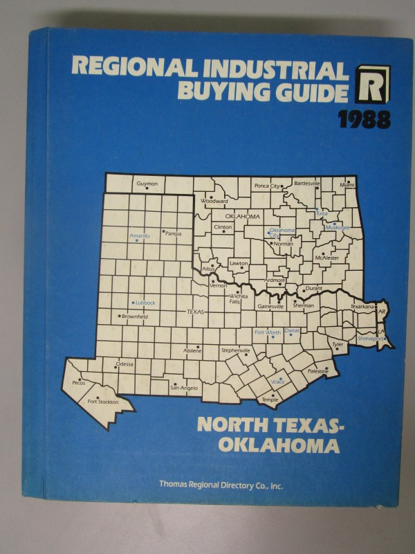 THOMAS REGIONAL DIRECTORY CO., INC. REGIONAL BUYING GUIDE, 1988, NORTH TEXAS - O