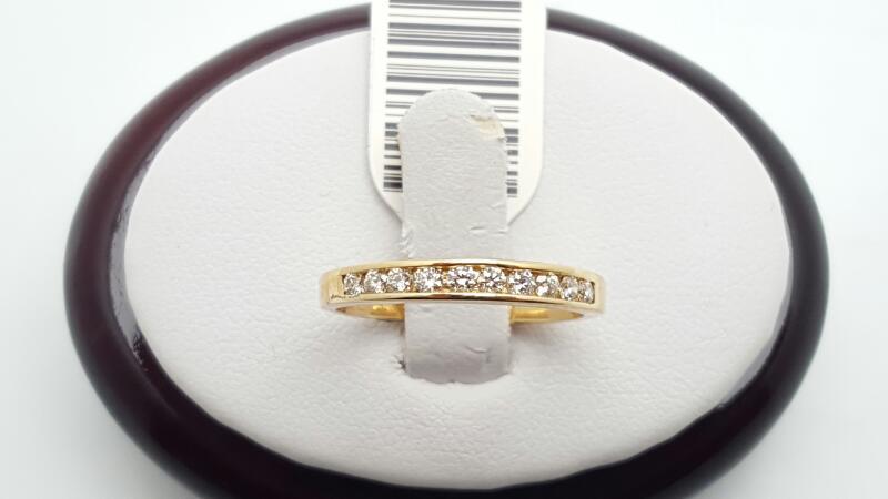 Lady's Gold-Diamond Anniversary Ring 10 Diamonds .33 Carat T.W. 14K White Gold 2