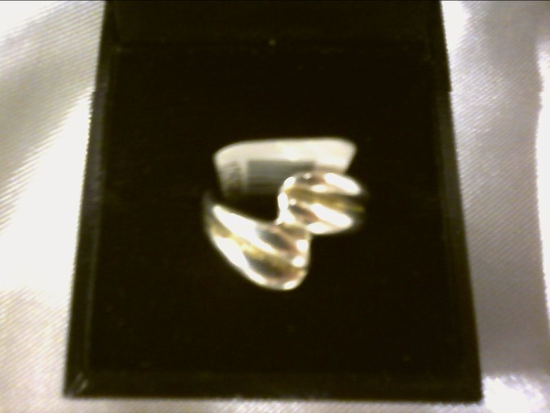 WRAP SILVER TWO BAND (LOOK) RING SIZE 5.5