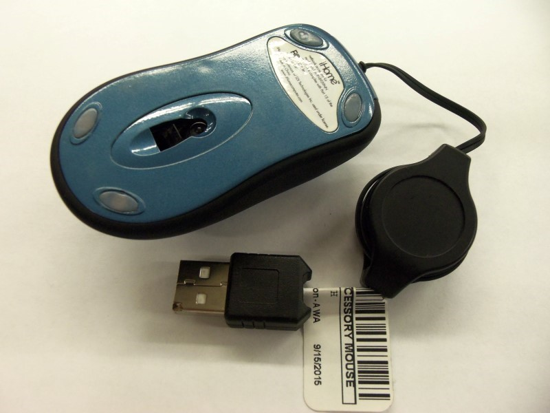 IHOME OPTICAL TRAVEL MOUSE BLUE IN COLOR