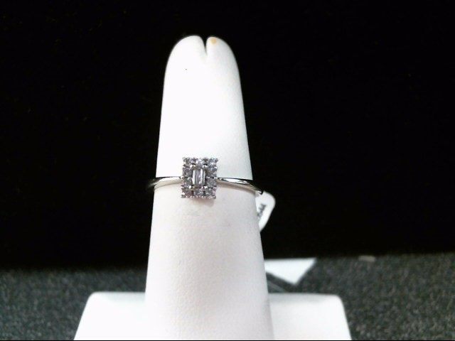 Lady's Diamond Engagement Ring 11 Diamonds .11 Carat T.W. 10K White Gold 2g