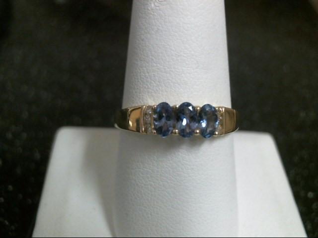 Purple Stone Lady's Stone & Diamond Ring 6 Diamonds .12 Carat T.W.