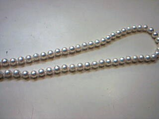 Synthetic Pearl Stone Necklace 14K Yellow Gold 27.1g