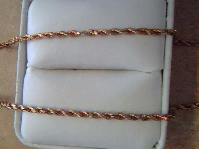 ROPE NECKLACE JEWELRY , 14KT, 9.