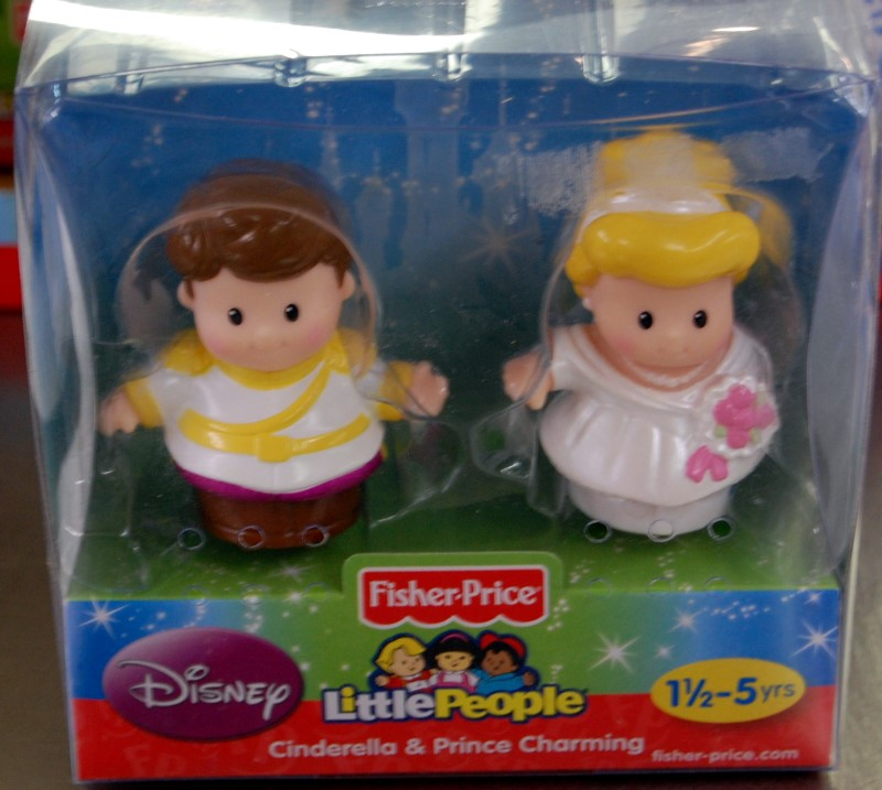 LITTLE PEOPLE DISNEY 2PK CINDERELLA/PRINCE CHARMING