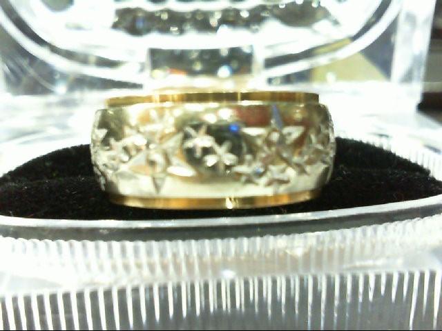 Lady's Gold Wedding Band 14K 2 Tone Gold 9.4g Size:8.5