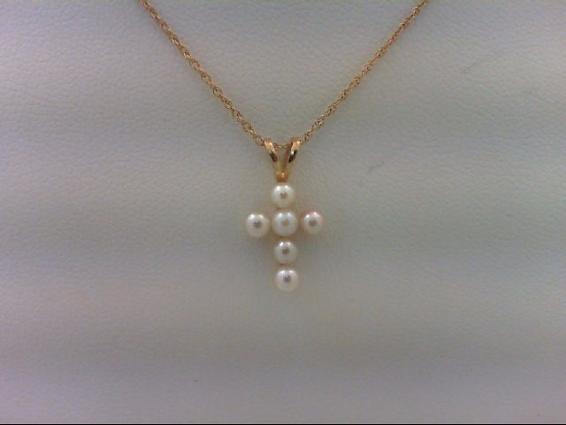 Pearl Gold-Stone Pendant 14K Yellow Gold 1.1g