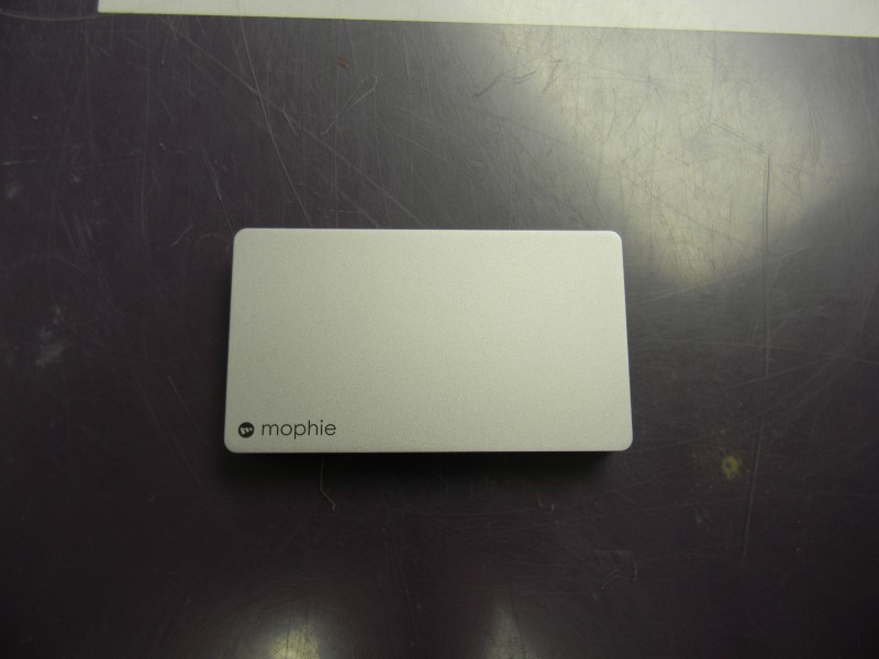 Mophie Powerstation Plus Portable Battery Pack (Silver) w/ Lighting Cord