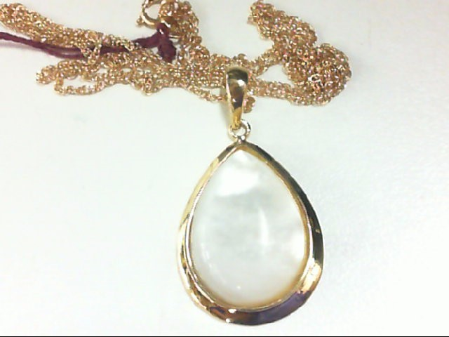 Pearl Gold-Stone Pendant 14K Yellow Gold 4g