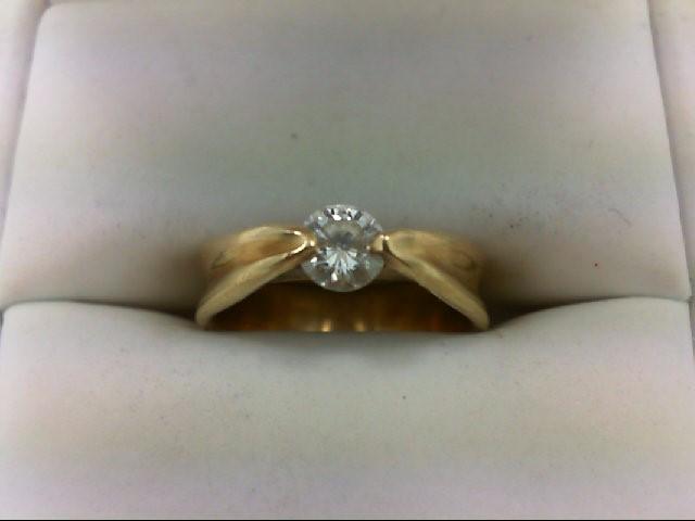 Lady's Diamond Wedding Set 0.4 CT. 14K Yellow Gold 4.4g Size:5.75