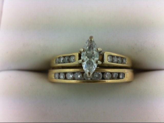 Lady's Diamond Wedding Band 18 Diamonds 0.71 Carat T.W. 18K Yellow Gold 4.6g