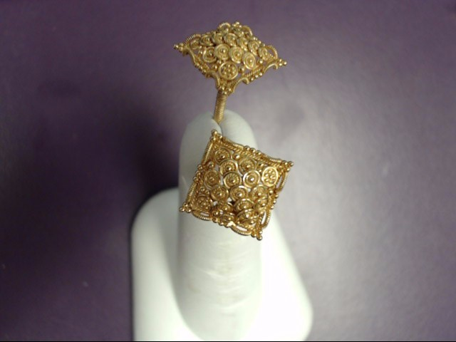 Gold Earrings 20K Yellow Gold 4.1g